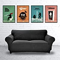 Stanley Kubrick Collection Movie Artwork Set, Full Metal Jacket, The Shining, 2001 A Space Odyssey, A Clockwork Orange, Unframed Print, Home Decor