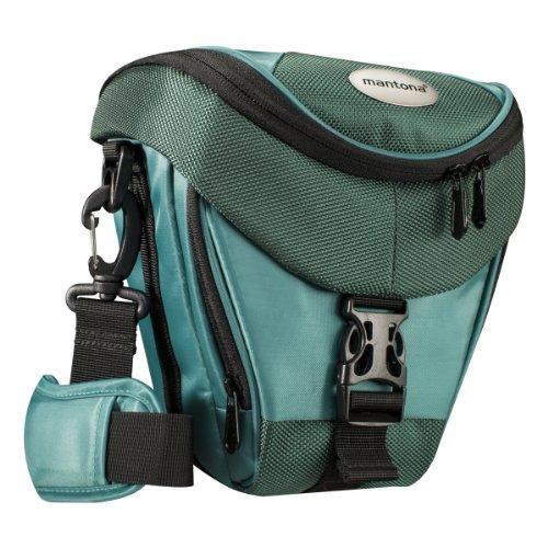 Mantona Colt Kameratasche dunkelgrün (Universaltasche inkl. Schnellzugriff, Staubschutz, Tragegurt und Zubehörfach, geeignet für DSLR- und Systemkameras) (Kamera-tasche N)