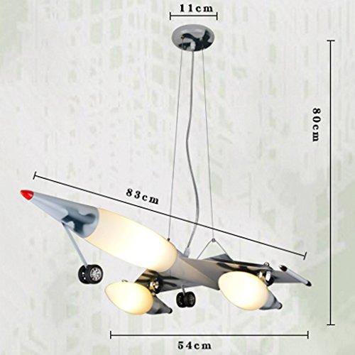 Guo Kinderzimmer Schlafzimmer Lichter Kämpfer Kreative Kronleuchter Junge Flugzeug Lichter Eisen E27 Lampenanschluss - 6