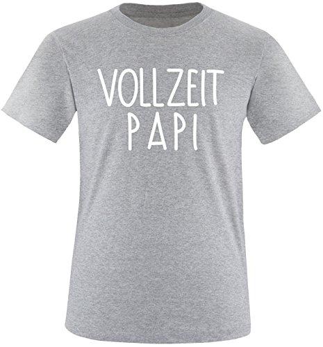 EZYshirt® Vollzeit Papi Herren Rundhals T-Shirt Grau/Weiss