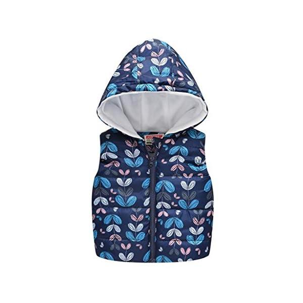 Vectry Abrigo Bebé, Niña Ropa Infantil Otoño Invierno Chaleco Floral Chaleco Cálido Abrigo Chaleco Cárdigan Suéter De… 1