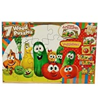 Puzzle Veggie Tales Wood 7 Pak by Cardinal Industries