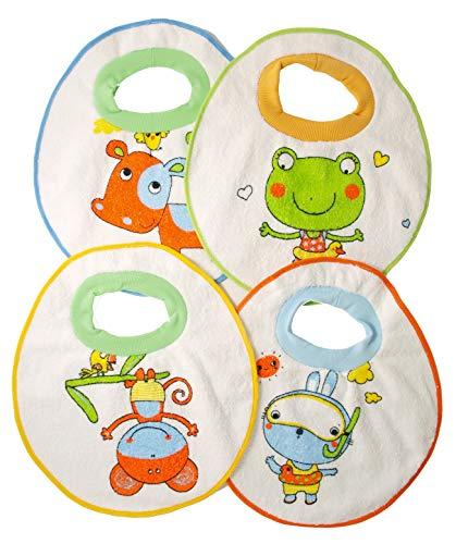 Ti TIN Pack 4 Baberos Impermeables Bebés Más 1 año