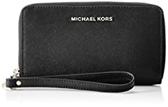 Idea Regalo - Michael Kors Wristlets, Borsa a Zainetto Donna, Nero (Black), 2.5x10.2x17.8 Centimeters (W x H x L)