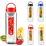 #10: Buyerzone Fruit Infuser Detox BPA Free Water Bottle,700 Militers