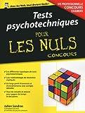 Tests psychotechniques pour les Nuls Concours...