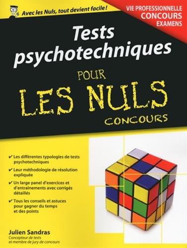 Tests psychotechniques pour les Nuls Concours