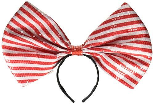 Amscan Haarband mit Schleife, für Erwachsene, Rot/Weiß, Einheitsgröße (Süße Feiertags Kostüme Ideen)