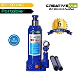CreativeVia 5 Ton Hydraulic Bottle Universal Car Jack- 6 Months Replacement Warranty