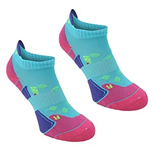 5166mEZ2kBL. SS300  - Karrimor 2 Pack Womens Running Trainer Ankle Socks Ladies Turquoise/Fusch 4-8