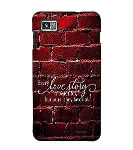 Fuson Designer Back Case Cover for Lenovo K860 :: Lenovo IdeaPhone K860 (Every love story theme)
