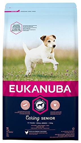euka NUBA Senior crocchette per Cani di Piccola Anziani con Pollo Fresca