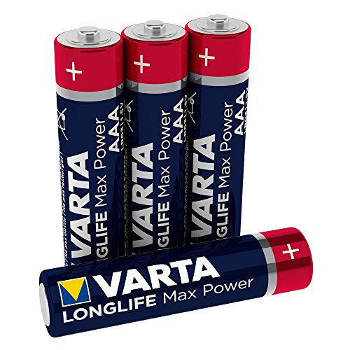 VARTA Longlife Max Power Batterie AAA Micro Alkaline Batterien LR03 (4er Pack)