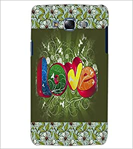 PrintDhaba Love D-3070 Back Case Cover for SAMSUNG GALAXY J5 (Multi-Coloured)