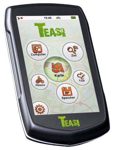 TEASI One2 - GPS para bicicleta, color negro