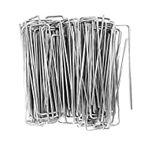 landscape fabric netting WUNDERGARDEN Pack of 300 x 6//150mm 11 Gauge U-shaped multi-purpose galvanised steel Garden Securing Pegs Ideal for securing weed fabric ground sheets and fleece
