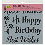 """Crafter's Workshop Template 12""""X12""""-Happy Greetings"""