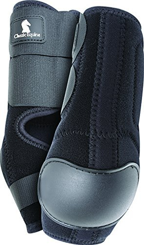 Black Classic Equine Neoprene Tack Horse Skid Boot by CLASSIC ROPE COMPANY