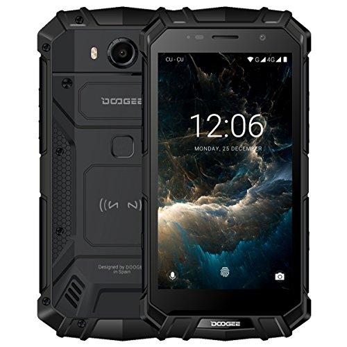 "DOOGEE S60 Smartphone Libre IP68 Impermeable Dual SIM Android 7.0 Movile, Pantalla de 5.2"" FHD Helio P25 Octa Core 6GB+64GB Cámara Trasera 21MP Batería 5580mAh 12V2A Carga Rápida Huella Digital -Negro"