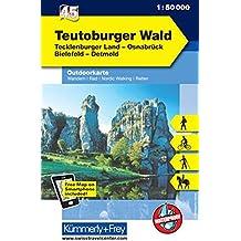 Teutoburger Wald Outdoorkarte Deutschland Nr. 45: Tecklenburger Land, Osnabrück, Bielefeld, Detmold, 1:50 000, Mit kostenlosem Download für Smartphone (Kümmerly+Frey Outdoorkarten Deutschland)