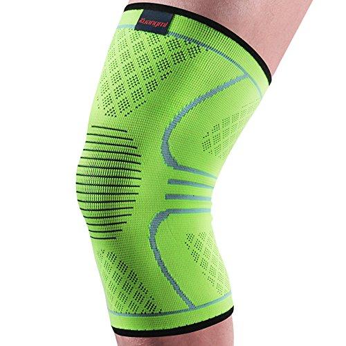 Preisvergleich Produktbild kuangmi Elastic atmungsaktiv Kniebandage Sleeve Displayschutzfolie Wärmer Knieschoner Kneepad für Running Tennis etc. General Green M