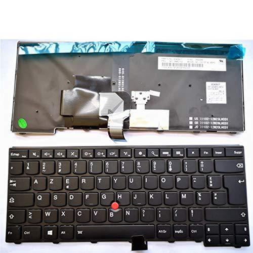 Clavier Français Azerty rétro-éclairé pour lenovo ThinkPad L440 L450 L460  L470 T431S T440 T440P T440S T450 T450S e440 e431S T460 04X6377 04X0124
