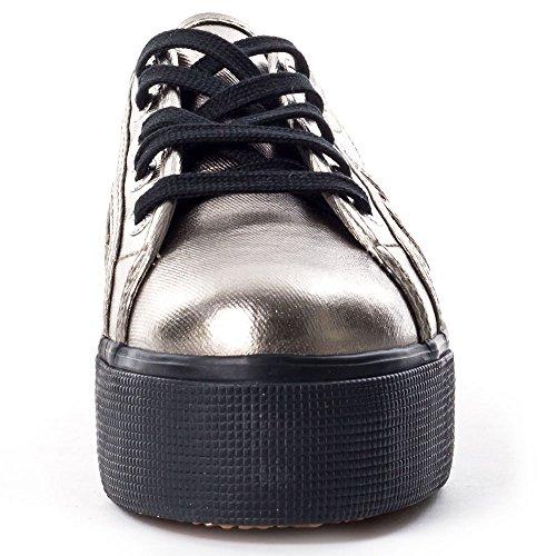 Superga 2790 Cotmetw Sneakers da Donna Grigio/Nero