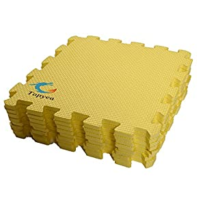 Schutzmatten Set Bodenschutzmatten 60 x 60cm Trainingsmatten Puzzlematten | Bodenschutzmatten | Unterlegmatten | Fitnessmatten für Bodenschut für Bodenschutz, Büro, Fitnessraum