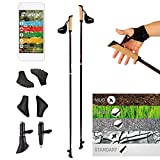 POWRX Bastoncini Nordic Walking in Carbonio (115 cm)