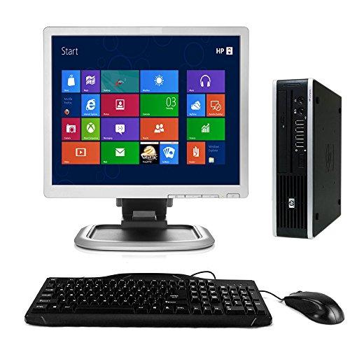 HP Elite 8000Windows 10Desktop-Computer C2D 3.0PC 4GB 160GB DVDRW WiFi 43,2cm LCD Monitor, Tastatur, Maus, Netzkabel (Zertifiziert aufgearbeitet)