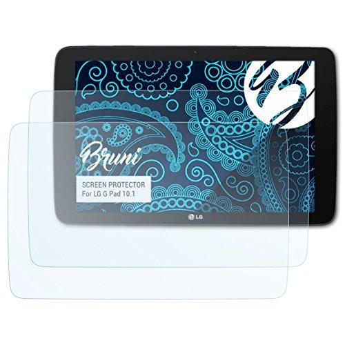 Bruni Schutzfolie kompatibel mit LG G Pad 10.1 Folie, glasklare Bildschirmschutzfolie (2X)