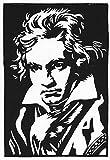 Linoldruck Ludwig van Beethoven (18x27 cm) - Kunstdruck-Grafik für Freunde klassischer Musik