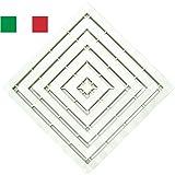 CENNI 77351 Pedana Doccia 50 x 50 in Plastica con Gommini Antiscivolo, Bianca, Made in Italy