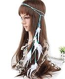 Cuir Corde Bohème plumes Headband-feather Bandeau hippie boho Perles Masquerade Fancy Dress Oreillette hippie Accessoires Cheveux