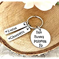 Gift for Mummy, Mothers day, Hand Stamped Keyring