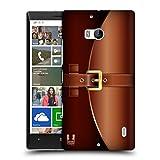 Head Case Designs Braun Aktentasche Ruckseite Hülle für Nokia Lumia Icon / 929/930