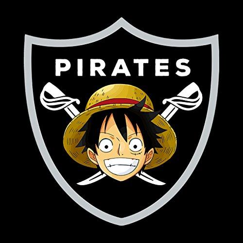 Monkey D Luffy Pirates Raiders Logo One Piece Womens Sweatshirt Black