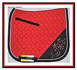 HKM Strass Dressur Schabracke, Warmblut, beidseitig Strass, Angebot (Rot/Schwarz)