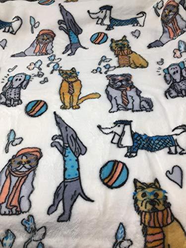 Modern Southern Home Überwurfdecke für Hunde und Katzen, Plüsch, 228,6 x 152,4 cm, Basset Hound, Bulldog, Dackel und mehr