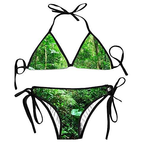Women's Bathing Swimsuits Adjustable Strap Beach Dusk Bikini Set Two Pieces Swimwear (Beute Rakete)