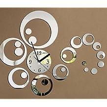 URAQT - El Reloj Digital DIY de Acrílico de Pared del Estilo Moderno y Hermoso - Decoración silenciosa - Blanco