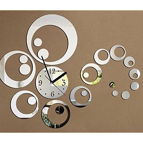 URAQT - El Reloj Digital DIY de Acrílico de Pared del Estilo Moderno y Hermoso - Decoración silenciosa -