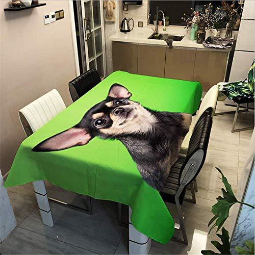 SONGHJ Polyester Baumwolle Hund Gedruckt Tischdecke Festliche Dekoration Tischdecke Hause wasserdichte Rechteck Tischdecke C 100x140cm / 39x55in