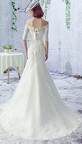 Vimans -  Vestito  - linea ad a - Donna Ivory