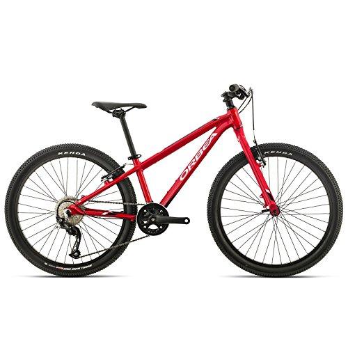 Orbea MX 24 Team Zoll MTB Kinder Fahrrad 9 Gang Rad Aluminium Jugend Kids Mountain Bike Shimano, I018, Farbe Rot Weiß -