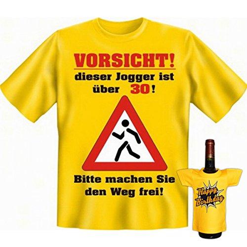 Vorsicht, dieser Jogger ist über dreißig! 30 Set Goodmann ® Shirt mit witzigem Aufdruck Gr: Farbe: gelb Gelb