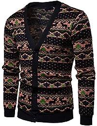 JiaMeng Chaqueta de Abrigo Ajustada y Slim fit Ropa Interior Larga Casual Otoño Impreso Manga Larga de Punto suéteres Top Blusa Cardigan