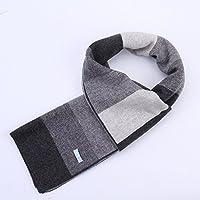 De los hombres de invierno Otoño - Invierno bufanda cuadros, hombres jóvenes engrosamiento bufanda, bufanda,??,180 cm x 30 cm