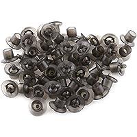 50Pcs Copa de Célula de Reina Abeja Tazas de Célula de Protección para Apicultura Copa de Abeja Reina para Apicultura Black 10 × 10mm