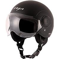 Vega Atom ABS Material Dull Black Helmet-M